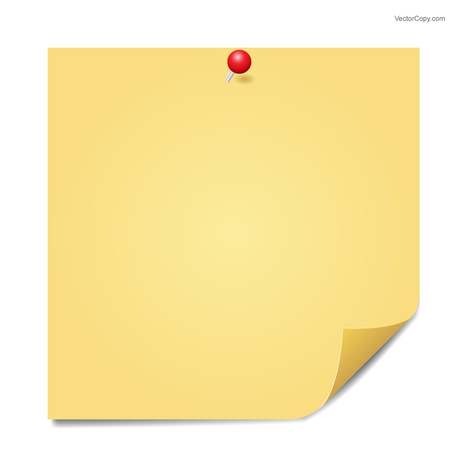 Sticky note clipart - Clipground