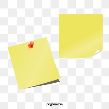 Yellow Sticky Notes PNG Images.