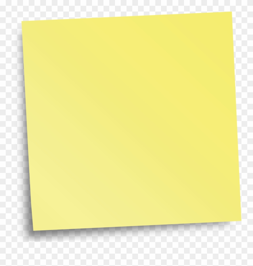 Yellow Sticky Notes Png Image Clipart (#2989095).