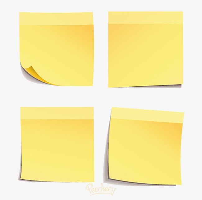 Yellow Sticky Notes PNG, Clipart, Notes Clipart, Paper.