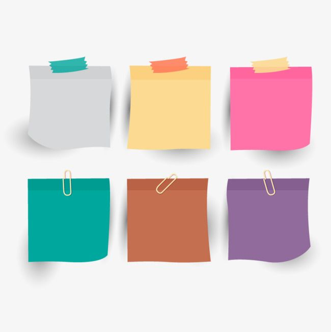 Vector Color Sticky Notes, Hd, Vector, Cute Sticky PNG and.