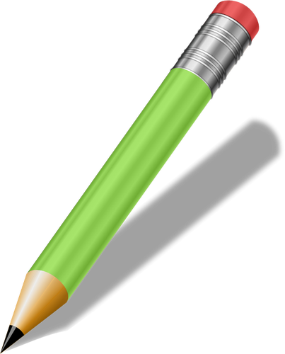 Sharp green pencil vector clip art.