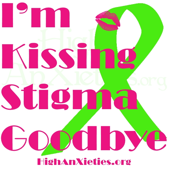 This represents a powerful quote about kissing the stigma goodbye.