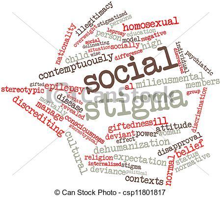 Clipart of Social stigma.