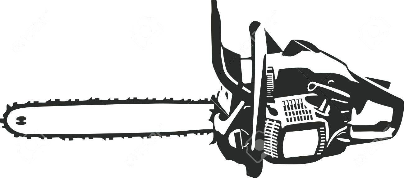 Chainsaw Clip Art Clipart Black And White.