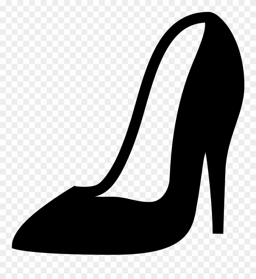 Women Shoe Diagonal View Filled Icon In Iphone Style.