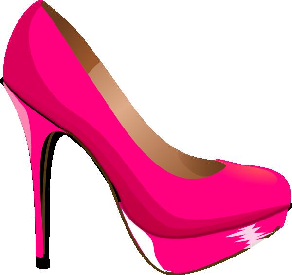 kids pink heels clip art.