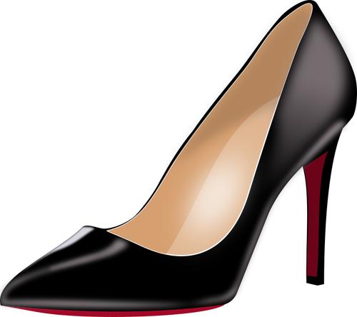 Black stiletto heels.