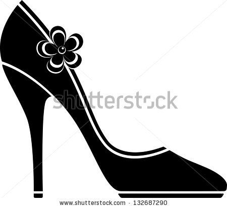 Free SVG High Heel Vector Shoes Silhouettes.
