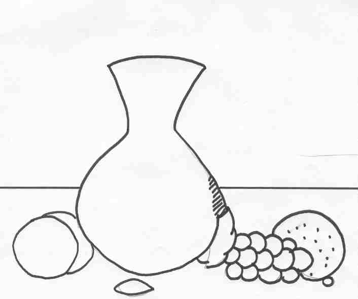 Simple Line Art Example : Still life clipart clipground