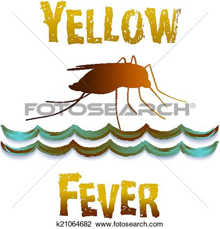 Clipart of Yellow Fever Mosquito, Still Water k21064682.