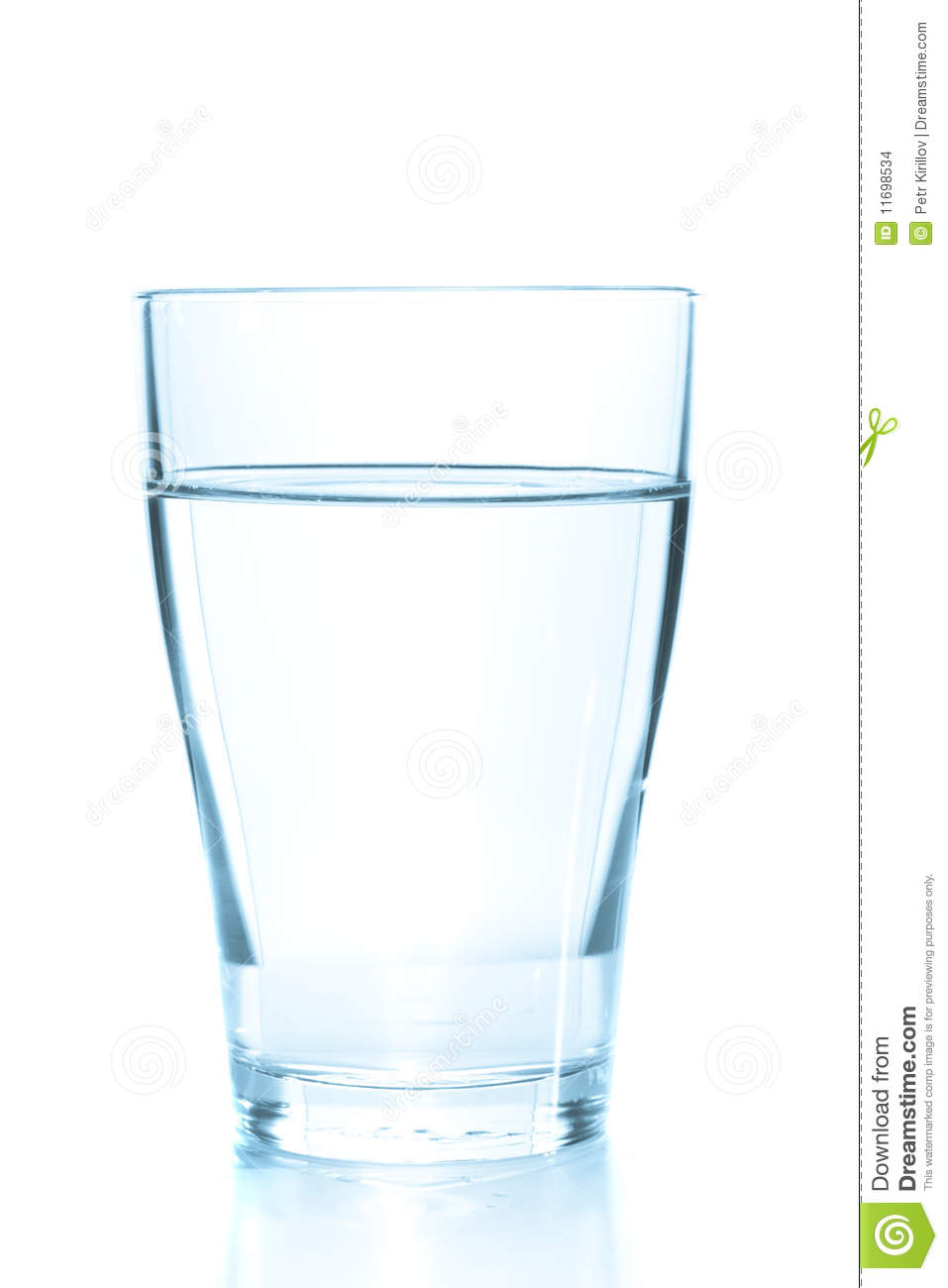 Clean Glass Of Still Water Stock Images.