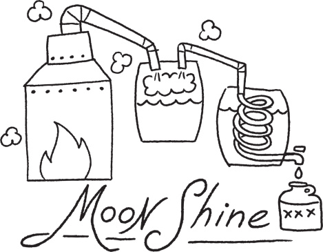 Drawing Of A Moonshine Stills Clip Art, Vector Images in moonshine.