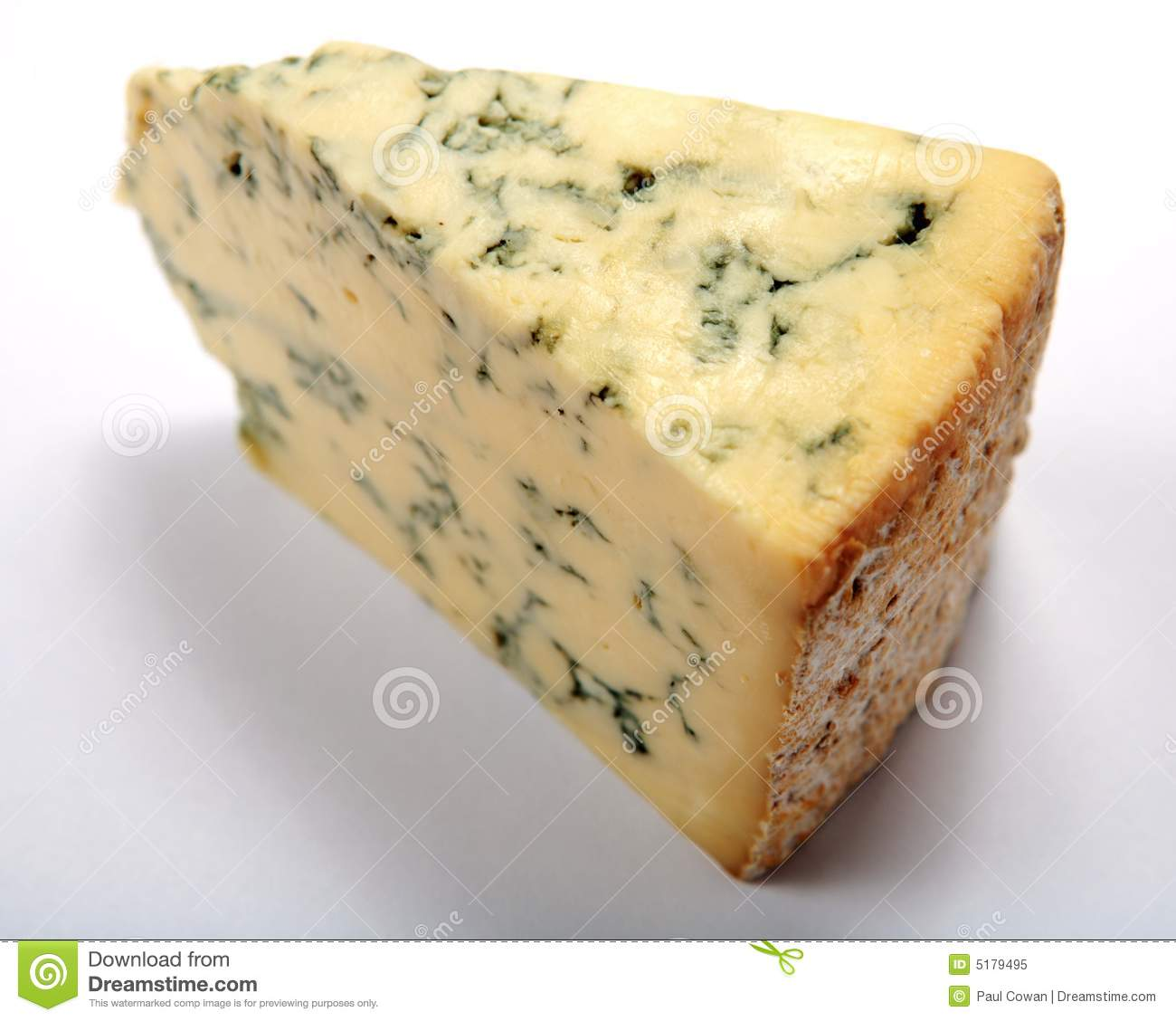 English Stilton Cheese Wedge Royalty Free Stock Photo.