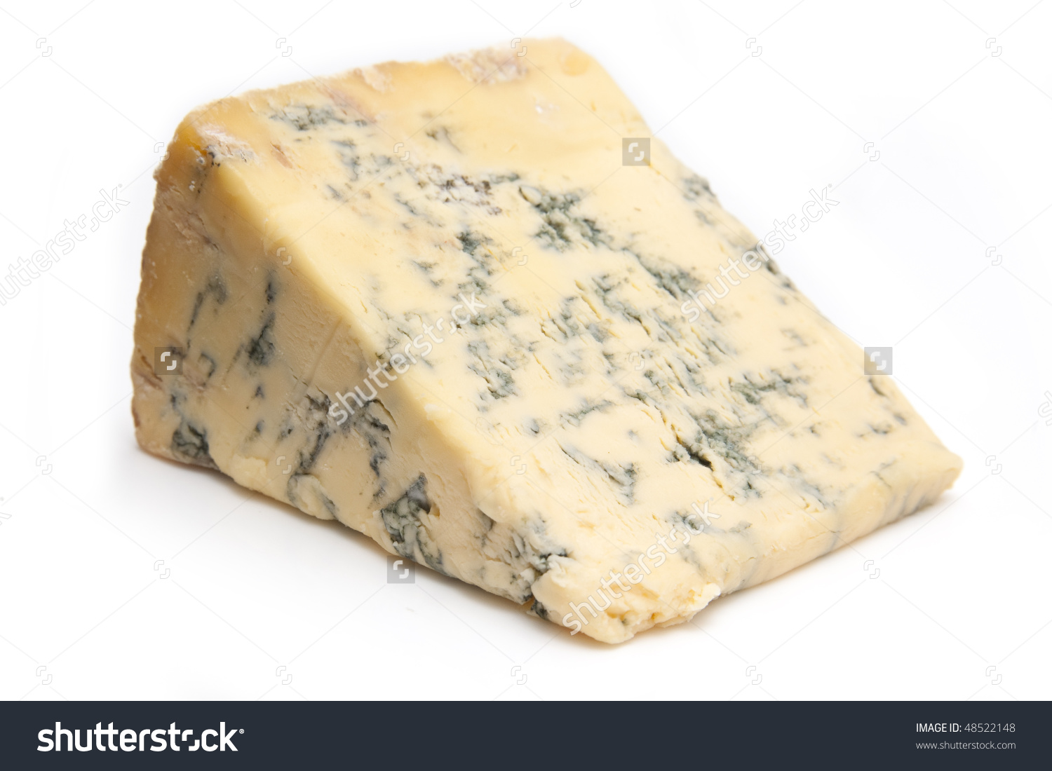British Blue Cheese Stilton Isolated On Stock Photo 48522148.