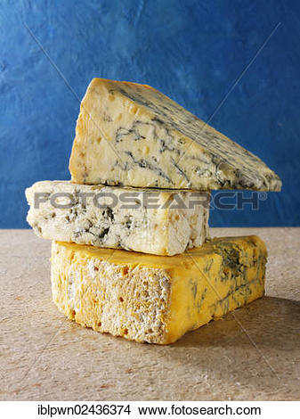 "Stock Photo of ""English blue cheese, Stilton, White Stilton Cheese."