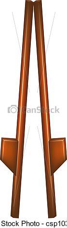 Vectors of Wooden stilts.