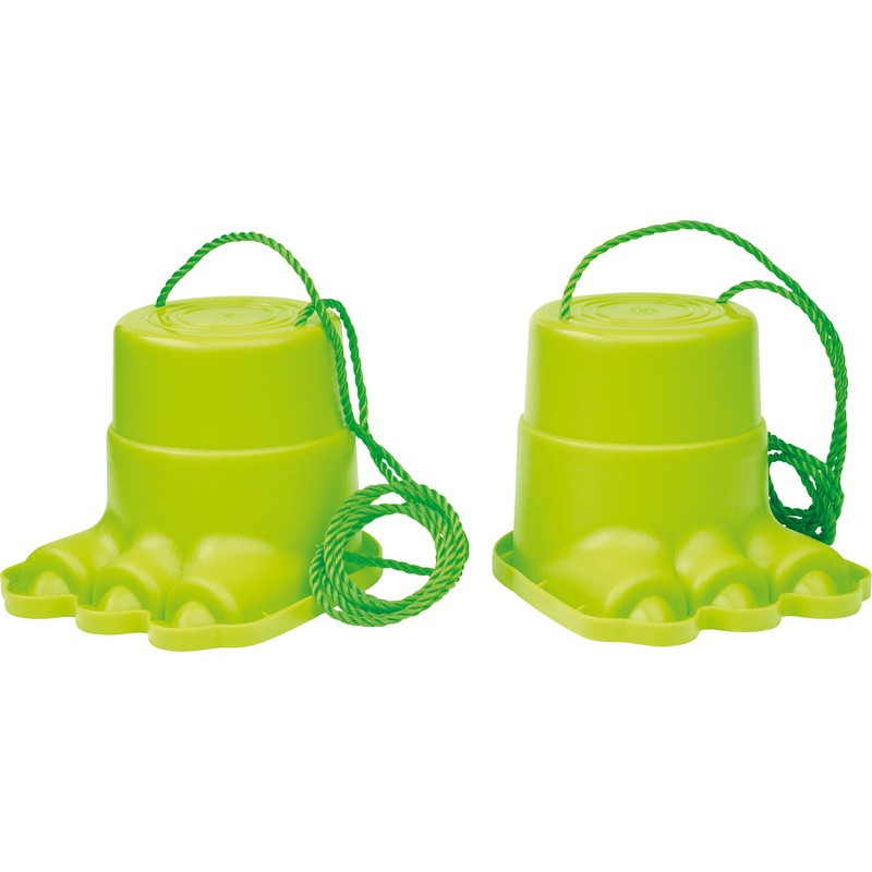 Green Monster Feet Stilts With Handle Cord.