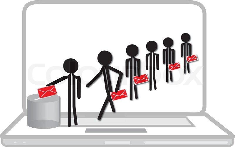 Abstimmung von Menschen.