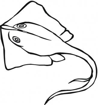 Sting ray clip art.