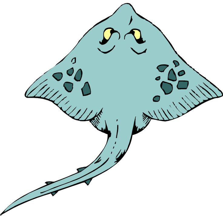 Sting ray clipart.