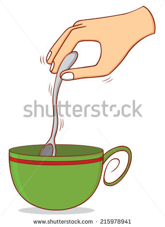Stirring Spoon Stock Photos, Royalty.