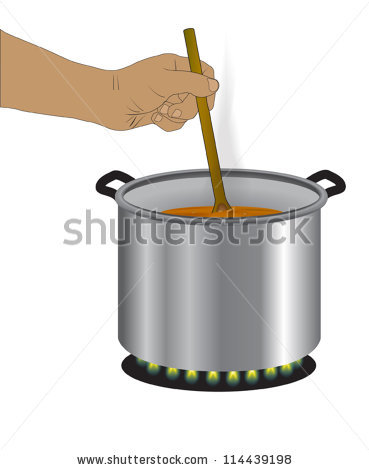 Stirring Pot Stock Photos, Royalty.