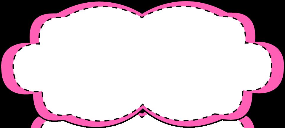 Hot Pink Stitched Frame.