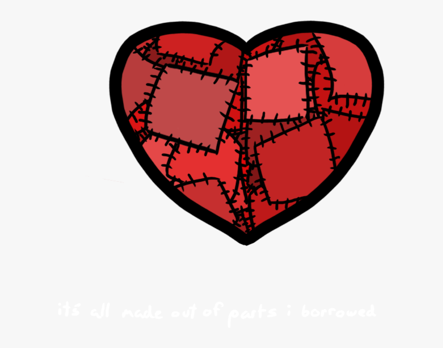 Online Stitched Heart Clipart, Heart Collection.