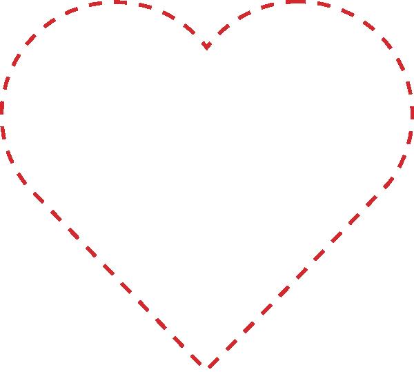 Stitched Heart Outline Clip Art at Clker.com.