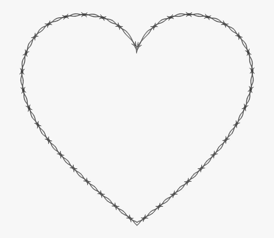 Clipart Barbed Wire Heart.