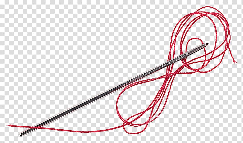 Thread Woven fabric Bobbin Artikel, stitching transparent.