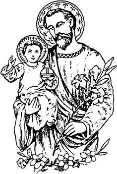 Saint joseph clipart free.
