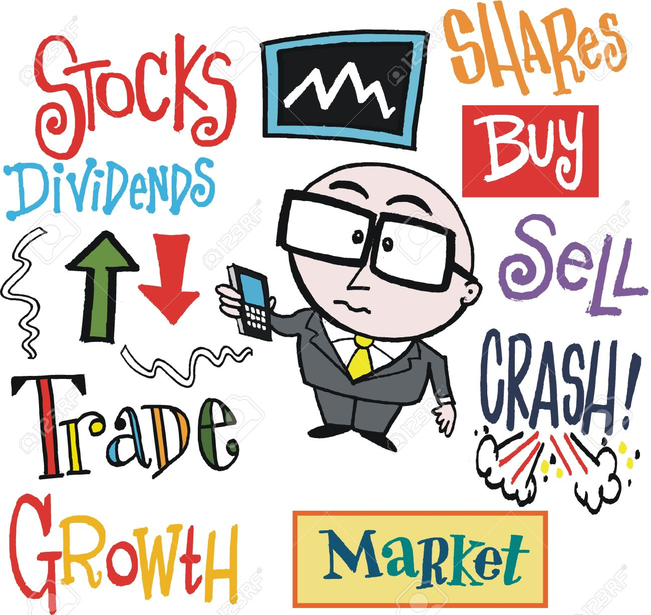 Stock in trade clipart.