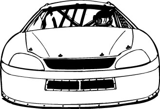 Stock Car Clipart.