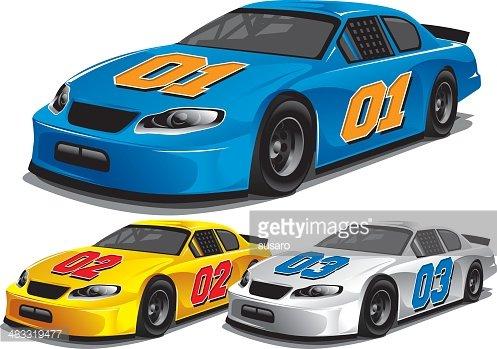 Stock Car Racing premium clipart.