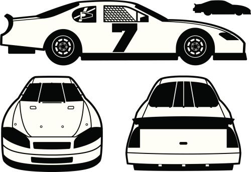 Stock Car Race Car Clipart.