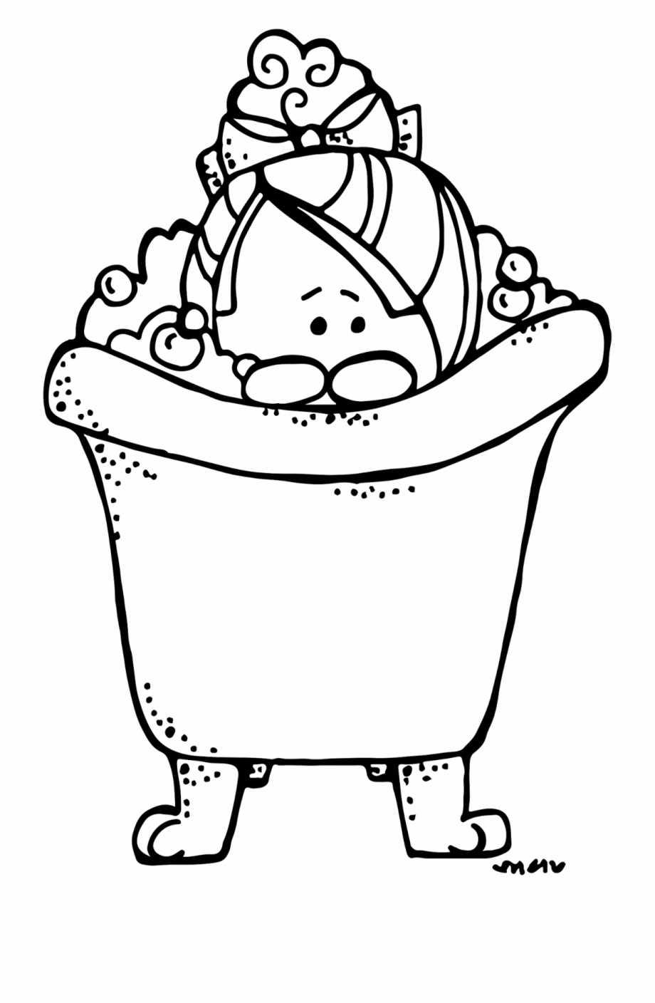 Clipart Library Stock Bath Clipart Black And White.