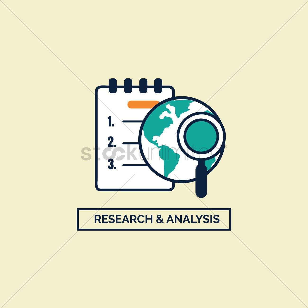 Research and analysis vectors, stock clipart , #AFF.