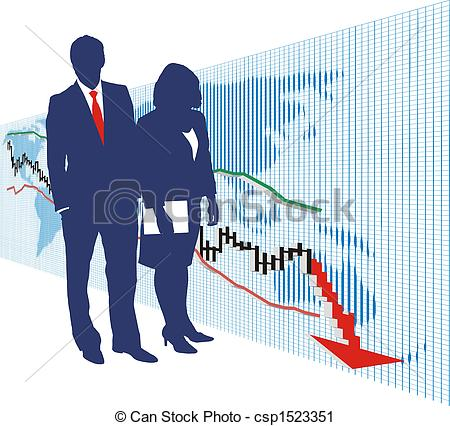 Clipart of World stock exchange market 1.