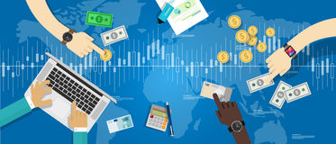 Global Business People Discussion Stock Market Concept Stock Photo.