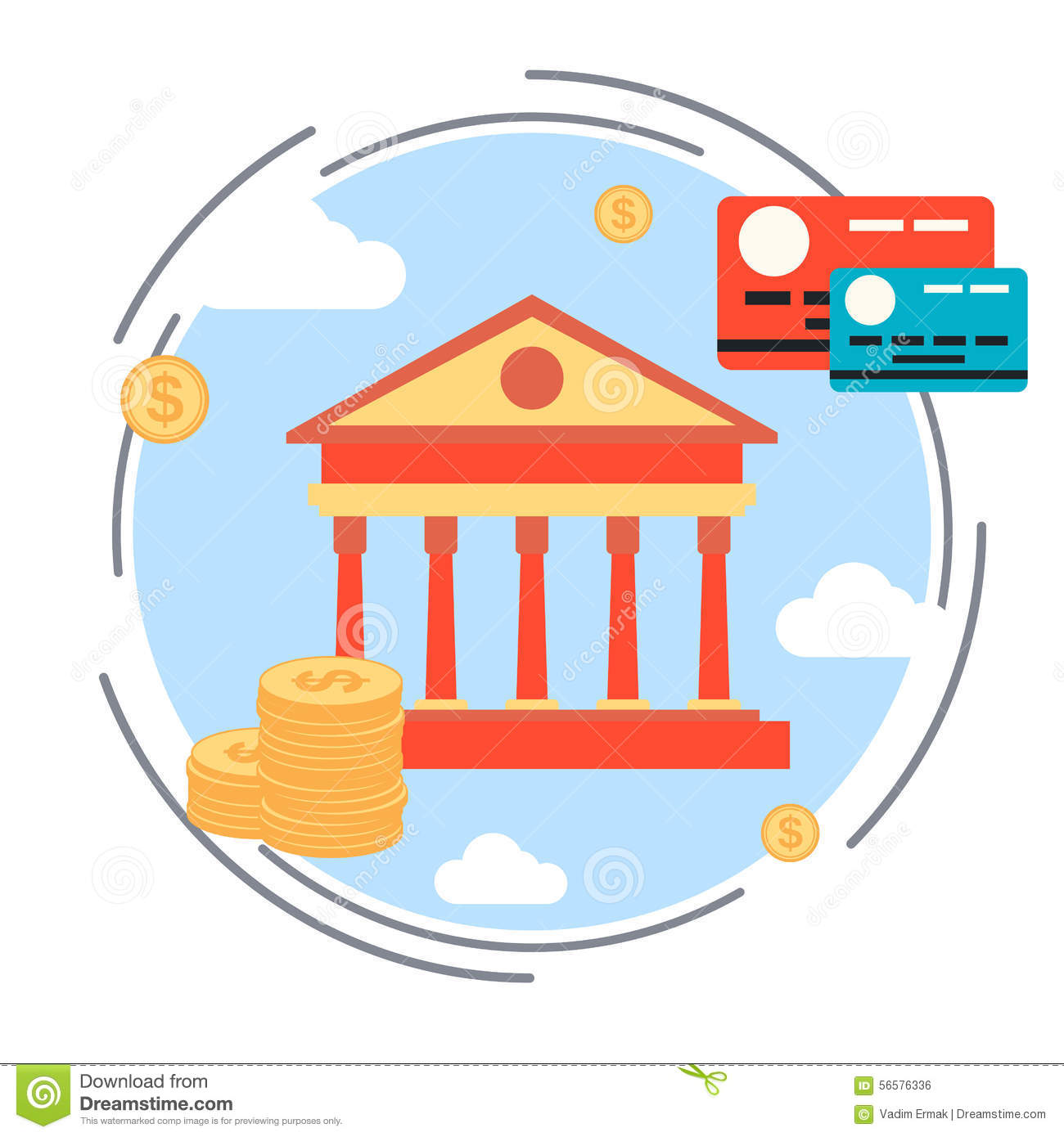 Money Transaction, Currency Exchange, Credit Card, Online Banking.
