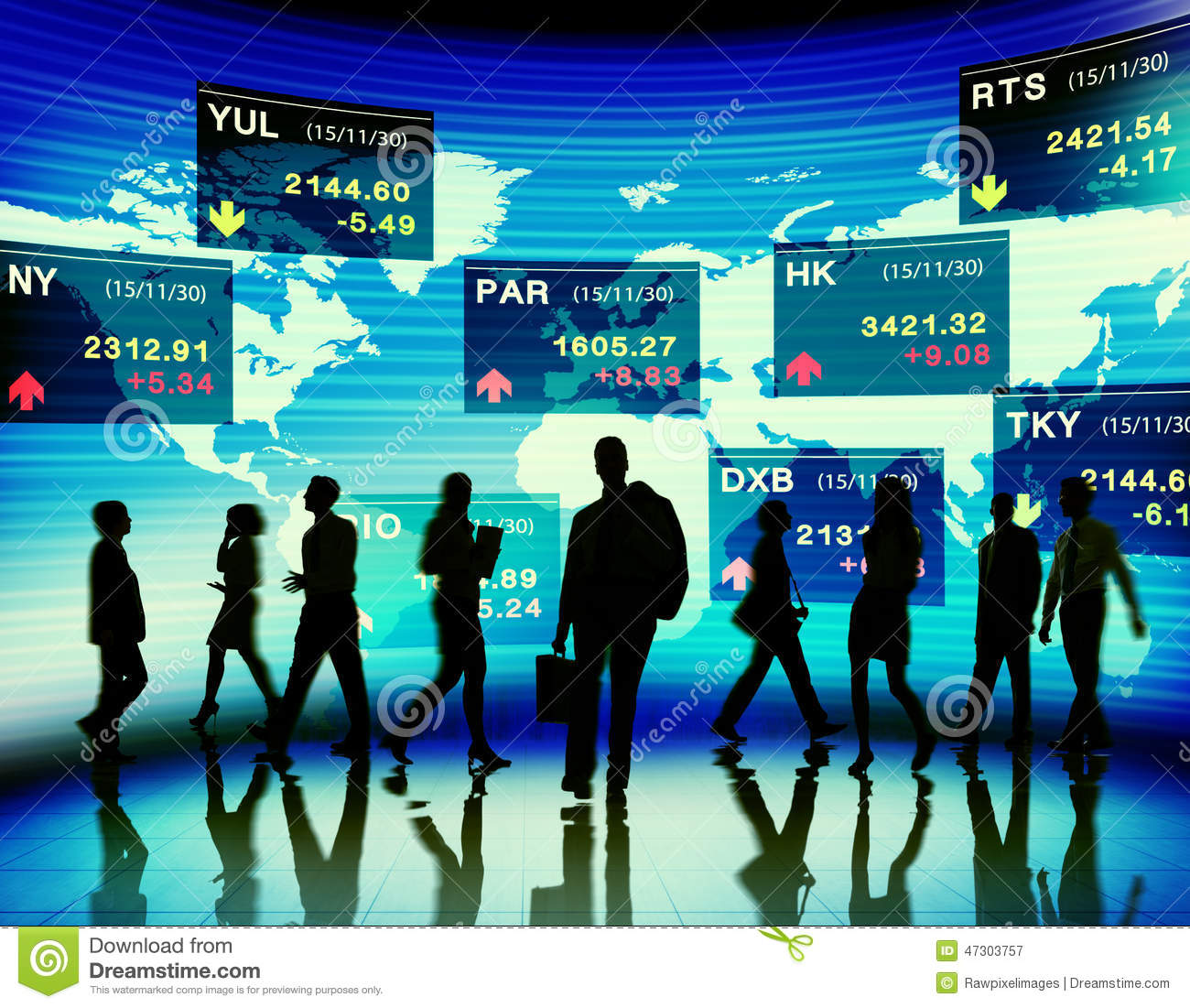 Business People Stock Exchange Market Trading Concept Stock Photo.