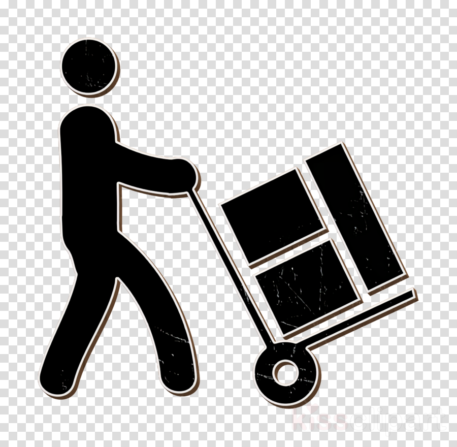 Humans icon Worker loading boxes icon Stock icon clipart.