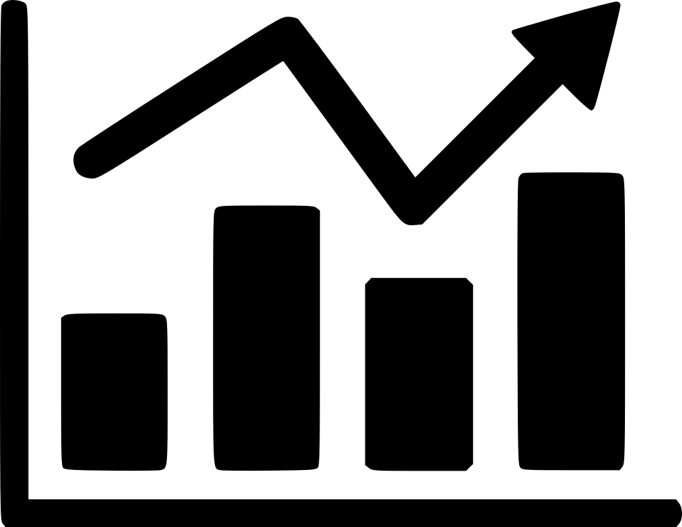 Report Arrow Chart Business Graph Stock Data Svg Png Icon.