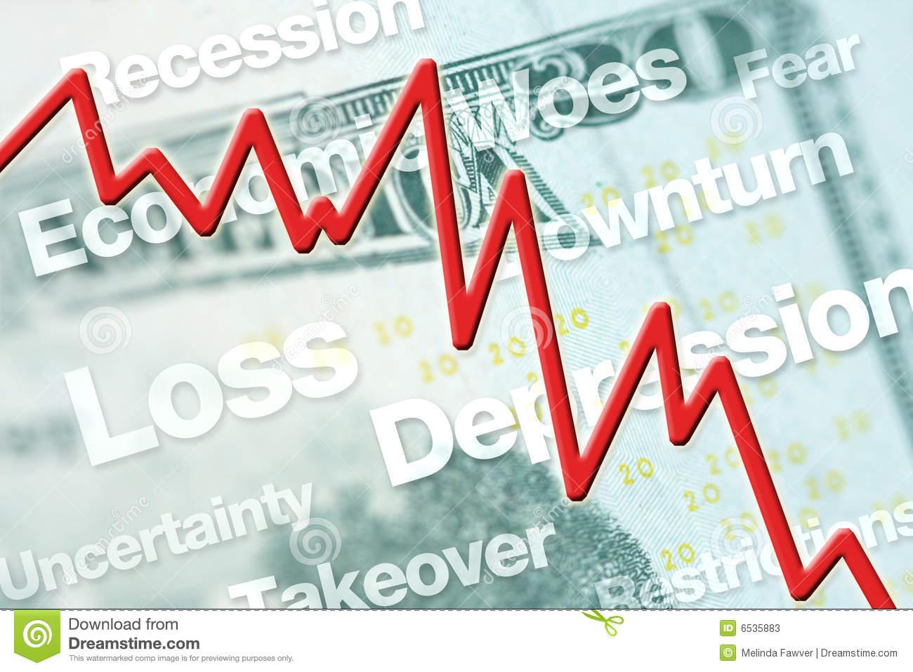 Stock Market Crash Royalty Free Stock Image.