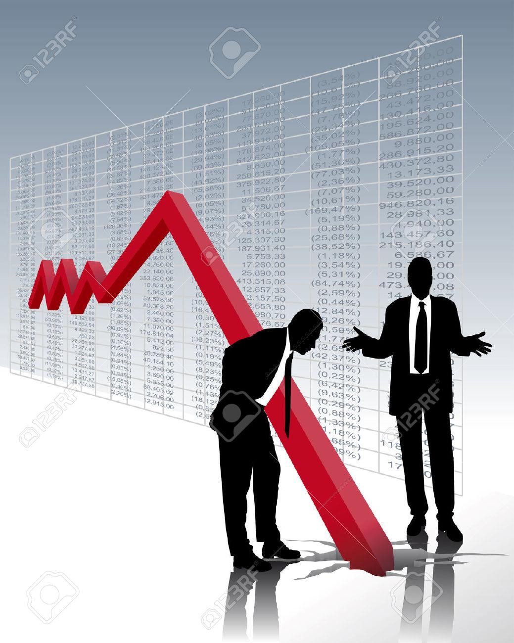 Stock Market Crash Clipart.