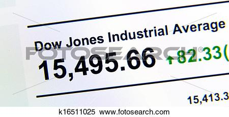 Stock Image of Dow Jones stock market index k16511025.