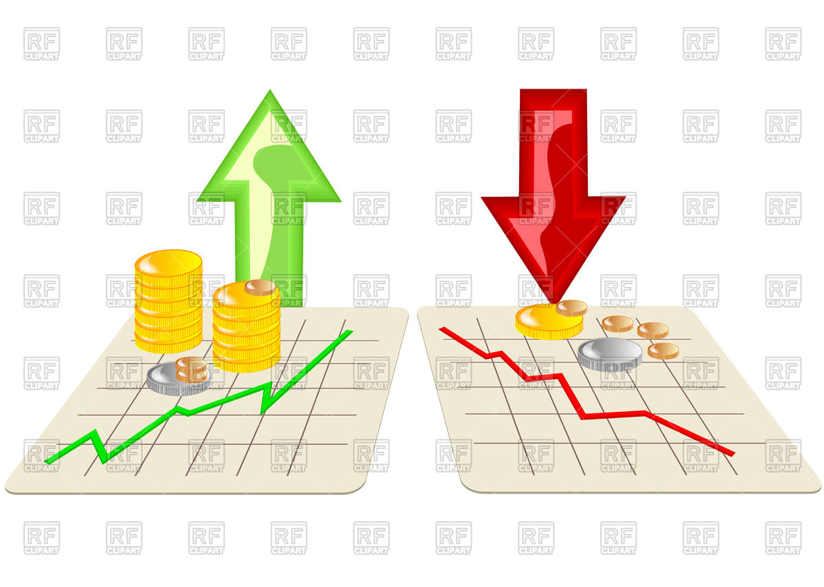 Stock Market Rise Clipart.