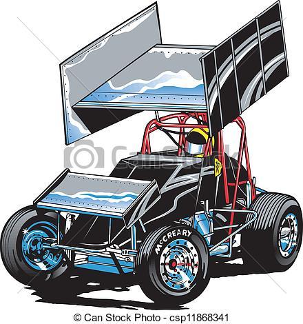 EPS Vector of Race Car Midget.